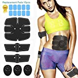 Muscle Toner, Abdominal Toning Belt, Portable Fitness Training Gear EMS ABS Trainer Wireless Body Gym Workout Home Office Equipment For Abdomen/Arm/Leg Training Men & Women Home Office Workout Equipm