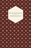 Miscellaneous Essays, Thomas de Quincey, 1408628554