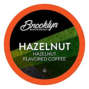 Brooklyn Beans Hazelnut Gourmet Coffee Pods, Compatible with 2.0 Keurig K Cup Brewers, 40 Count