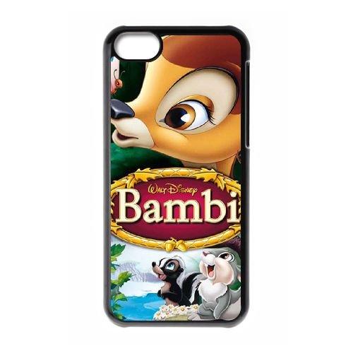 Bambi coque iPhone 5C Housse téléphone Noir de couverture de cas coque EBDOBCKCO10634