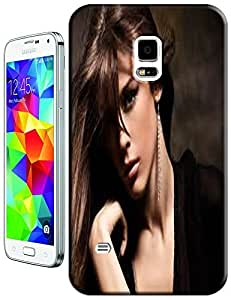 Sexy Beautiful Girl long Attract hair cell phone cases design for Samsung Galaxy S5 i9600