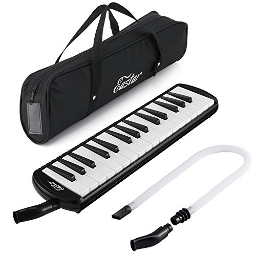 Eastar 32 Key Melodica Instrument Keyboard Soprano With Mouthpiece,Carrying Bag Black by Eastar