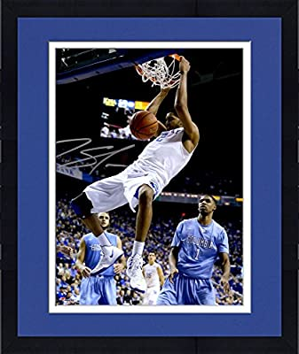 "Framed Karl Towns Kentucky Wildcats Autographed 8"" x 10"" Dunking Photograph - Fanatics Authentic Certified"