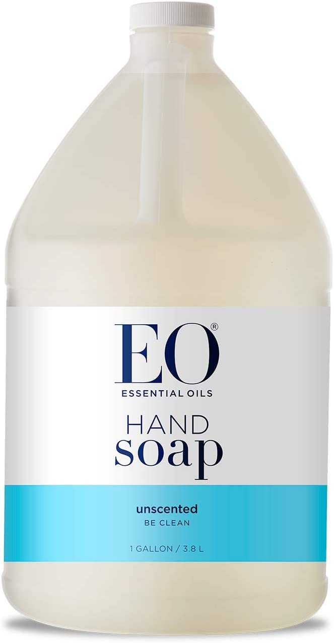 EO Liquid Hand Soap, Unscented, 128 Fluid Ounce