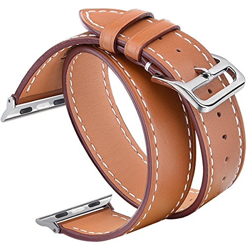 V Moro Double Leather Metal iWatch