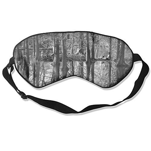 ZHYPMNU Sleep Mask Withered Forest Lake Unisex Eye Mask Cover Eyeshade
