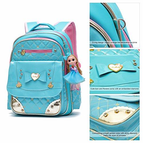 Ali Victory Barbie Black Princess Backpack Schoolgirls Series Adorable Blue Elementary for School Bookbag Doll rrFwqC