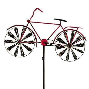 Carillon vélo metallwindrad bicylce rouge, décoration de jardin ...