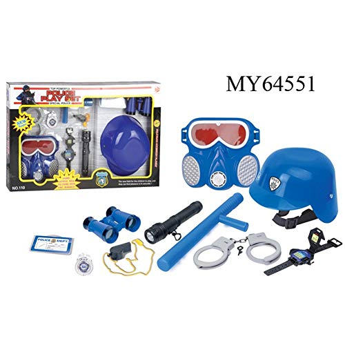 PinShang 9 Pcs Firefighter Role-Playing Toys Fire Extinguisher Gas Mask Firefighters Badge Set for - Fire For Badge Kids