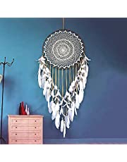 "Dream Catcher - Large Handmade Feather Dreamcatcher, Boho Traditional Circular Net for Wall Hanging, Girls Kids Nursery Bedroom, Home Decoration, Art Ornament Craft Gift(Dia 15.7"" Length 39.3"")"