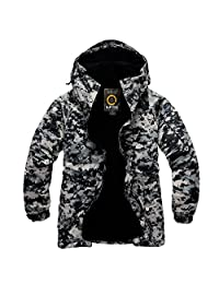 Southplay mens Outwear waterproof ski-snowboard U.S Black Military Jacket