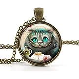Vintage Alice in Wonderland Pendant Necklace - Cheshire Cat Jewellery