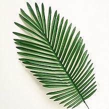 10pcs Fake Green Leaves 70cm Simulated Leaf Plants Fake Palm Tree Leaf Artificial Greenery