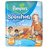 Pampers Splashers Disposable Swim Pants Size 3-4, 24 Count (Pack of 1)