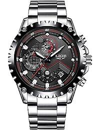 Fashion Sport Quartz Clock Mens Watches Luxury Full Steel Business Waterproof Watch Red Hands