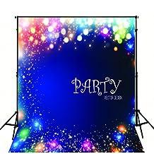 Star-Studded Photography Backdrop Blue 5x6.5ft Newborn Photo Backdrop Kit Birthday Party Custom Baby Background