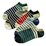 5 Pairs OF Low-waist Cotton Socks Male Cotton Socks Gift Color Stripes