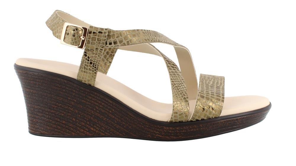 SAS Women's, Delight High Heel Wedge Sandals B0754L78NC 6.5 B(M) US|Olive