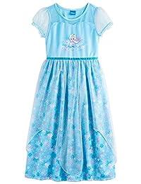 Disney Princess Frozen Elsa Girls Fantasy Gown, Kids Sizes 4-10
