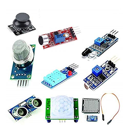 Anil Electronics Store Mini Sensor Kit with PIR, Ultrasonic Sensor, IR Sensor, LDR, Rain Sensor, Sound Sensor, Mq- 2 Gas Sensor, DHT 11, Joystick Module for Arduino Uno r3 Raspberry pie Price & Reviews