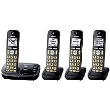 Panasonic KX-TGD224M Cordless Phone with Answering Machine- 4 Handsets