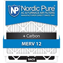 Nordic Pure 20x20x5HM12+C-1 Honeywell Replacement MERV 12 Plus Carbon AC Furnace Air Filters, Qty-1 by Nordic Pure