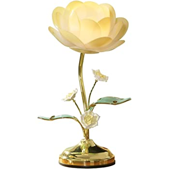 Lotus Flower Table Touch Lamp Yellow Amazon Com