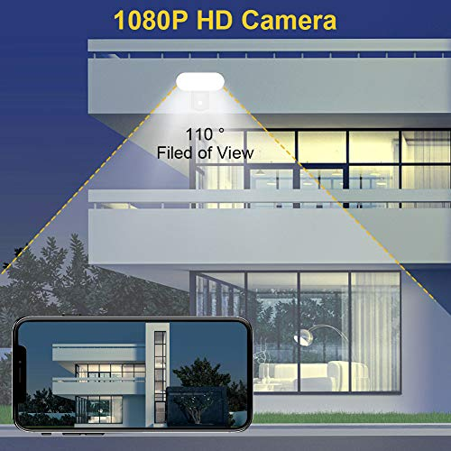 Floodlight Camera, VOLADOR Outdoor Security Camera, 1080P HD Motion-Activated Security Cam, Home Surveillance WiFi Smart Camera with 2500lm Floodlight, Siren Alarm, Two-Way Audio