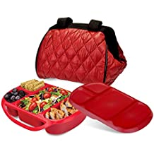 Smart Planet Portion Perfect Puffer Bag Set, Red