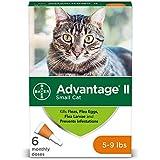 Bayer Advantage II Flea Treatment for Small Cats, 5-9 lb, 6 doses