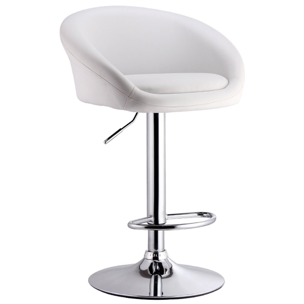 Style 4 XUERUI Barstools Bar Stool Rise Drop Simple Backrest Metal High-80cm Strong Stability (color   Style 1)