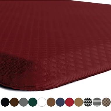 Kangaroo Original Standing Mat Kitchen Rug, Anti Fatigue Comfort Flooring, Phthalate Free, Commercial Grade Pads, Waterproof, Ergonomic Floor Pad for Office Stand Up Desk, 32x20, Red