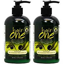 "Hair One Hair Cleanser and Conditioner for Dry Hair with Olive Oil 355ml / 12oz ""Pack of 2"""