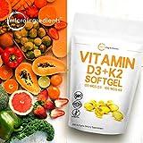 Vitamin D3 5000IU Plus K2, 2 in 1 Formula, Vitamin