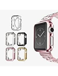 UMTELE Plated TPU Scratch-resistant Slim Protective Cover Flexible Lightweight Bumper Case for Apple Watch Series 2 38mm, Pack of 5