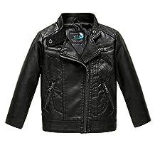 Budermmy Baby Girls Motorcycle Coat Toddler Winter Leather Jacket