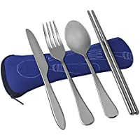 VICBAY 4 Pieces Stainless Steel Flatware Set, Knife Fork...