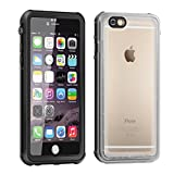 iPhone 6 Waterproof Case,Eonfine iPhone 6s Case Clear Protective Case IP68 Certified With Touch ID Heavy Duty Shockproof Case Skin for iPhone 6 Black