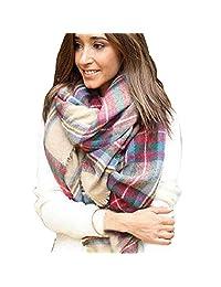 Susenstone® Scarf Wrap Shawl Plaid Checked Women Lady Blanket Oversized