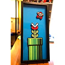 Piranha Plant - Super Mario 3 - 8 bit - hand cut paper art