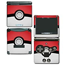 Pokemon Pokeball Pikachu Special Edition Video Game Vinyl Decal Skin Sticker Cover for Nintendo GBA SP Gameboy Advance System by Vinyl Skin Designs