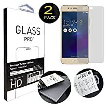 [2 Pack] For Asus Zenfone 3 Max ZC520TL Screen Protector, ANGELLA-M HD [Clarity Clear] Premium Tempered Glass Screen Protector for Asus Zenfone 3 Max ZC520TL 5.2""
