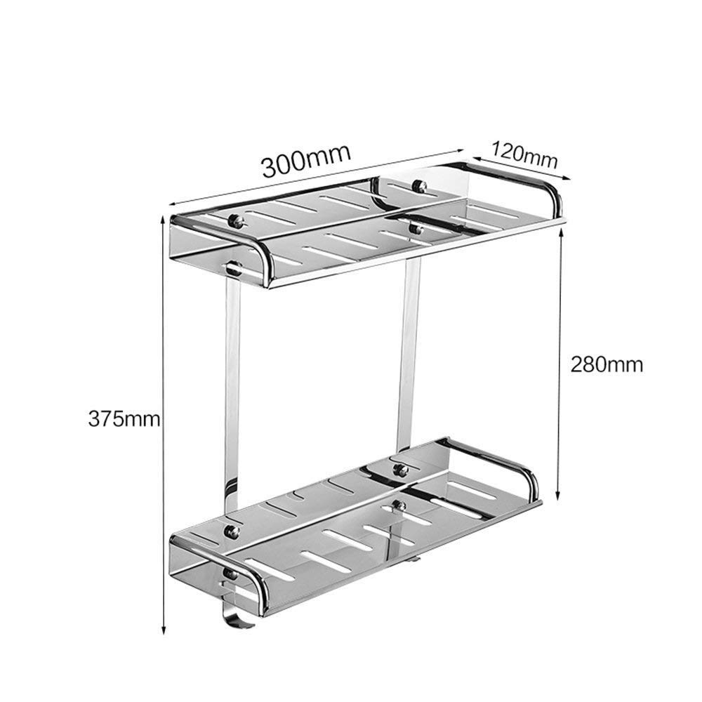 50cm Chuangshengnet Storage Rack 304 Stainless Steel Kitchen Seasoning Supplies Home Storage Rack (color   50cm)