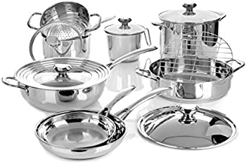 Wolfgang Puck Bistro Elite 14-Pc. Stainless Cookware Set