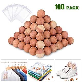 ACMETOP Cedar Blocks, 100% Natural Cedar Blocks for Clothes Storage, Aromatic Cedar Balls, Storage Accessories Closets & Drawers (100Pack)