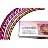 Exercise Sports Hoop® Series: DIY Hoop™ 2B - Pink - 2.0lb (0.9kg) Adjustable, Fitness Exercise Hula Hoop