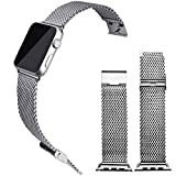 Apple Watch Band 38mm, Silver Stainless Steel Milanese Loop Band Replacement Band (YESOO Retail Packaging 180 Days Warranty)