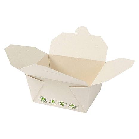 BIOZOYG Caja para Llevar de Fibras de la caña de azúcar I Tree Free Caja de cartón ...