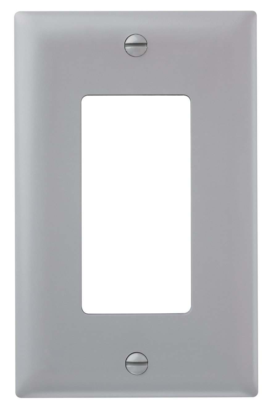 Legrand - Pass & Seymour TP26GRYCC15 Trade Master Nylon Wall Plate with One Decorator Opening, One Gang, Gray
