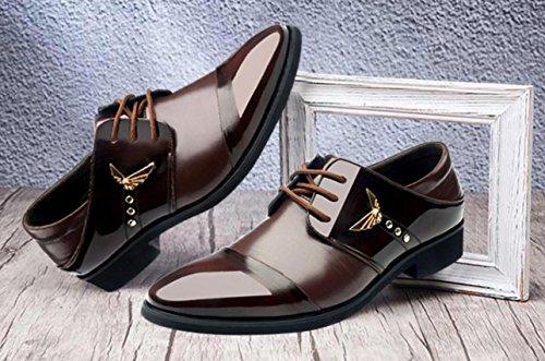 Zapatos De Brown Hombre Transpirables Mlsopx Negocios 42 Para Cuero Vestir HdwSSq8T5